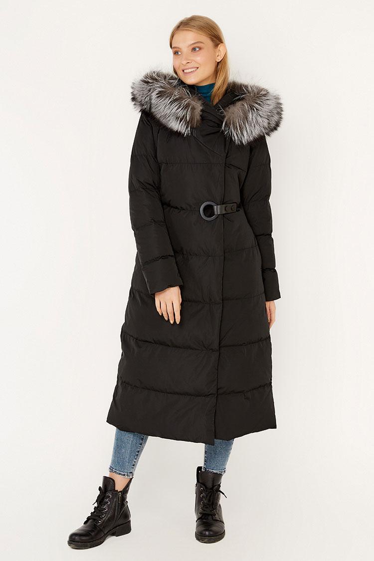 Куртка жiноча з полиэстера чорна, модель 00118/KPS
