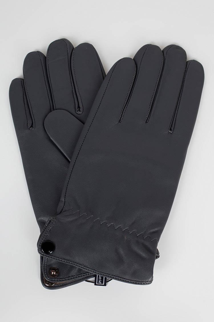 Рукавички чоловiчi з натуральної шкіри сірі, модель 6010-1