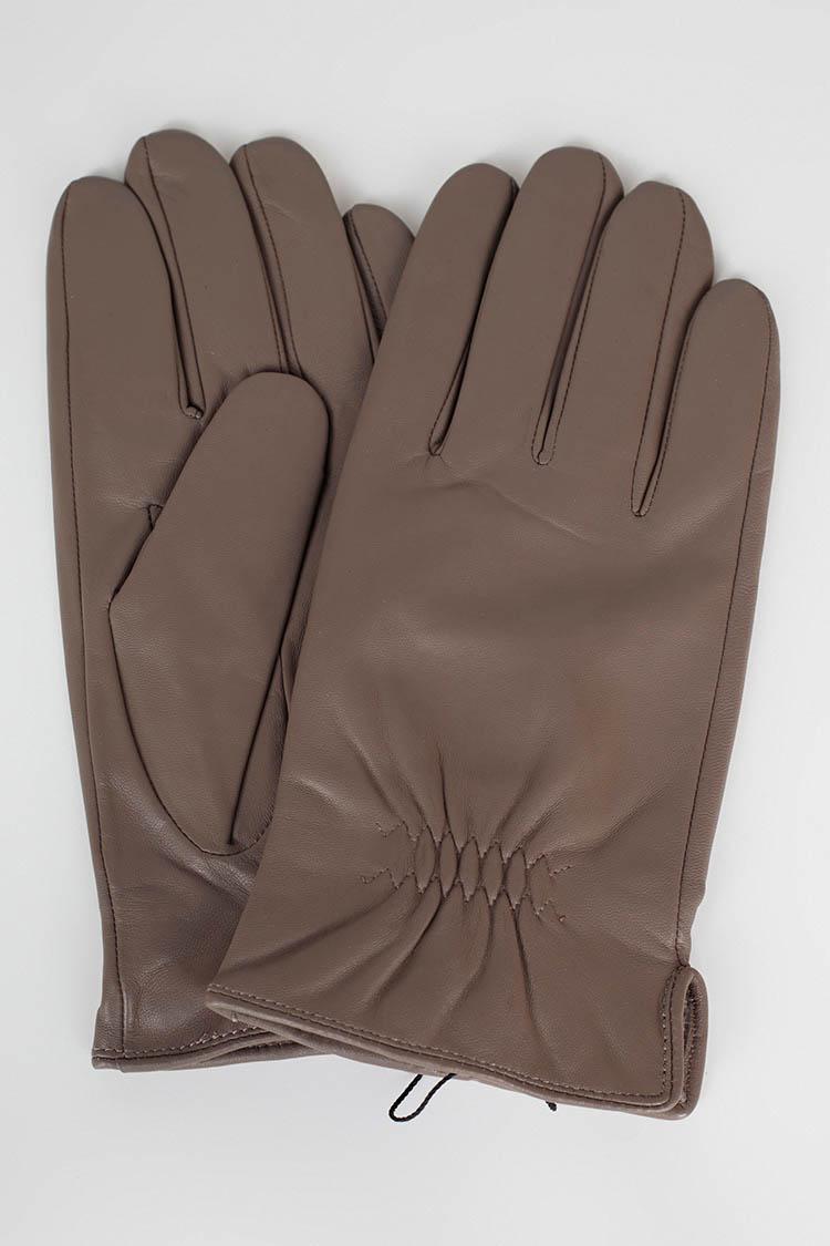 Рукавички чоловiчi з натуральної шкіри сірі, модель G-16-1