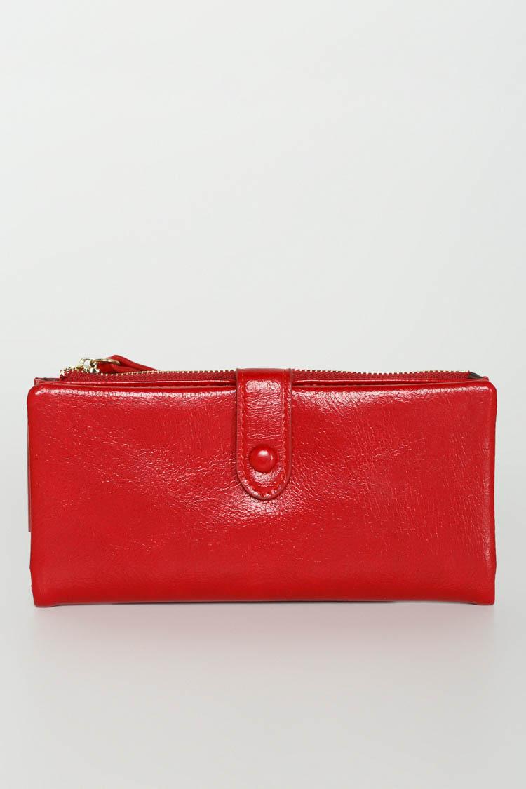 Гаманець жiночий з екошкіри червоний, модель 2016/Б