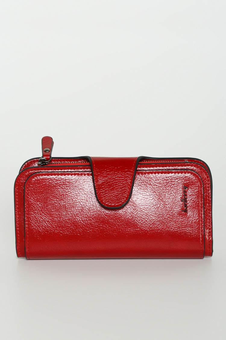 Гаманець жiночий з екошкіри червоний, модель 837