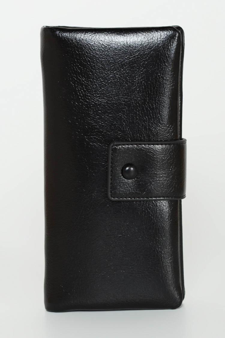 Гаманець жiночий з екошкіри чорний, модель C-8075