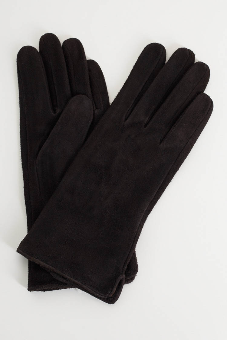 Перчатки женские из замша черные, модель 151