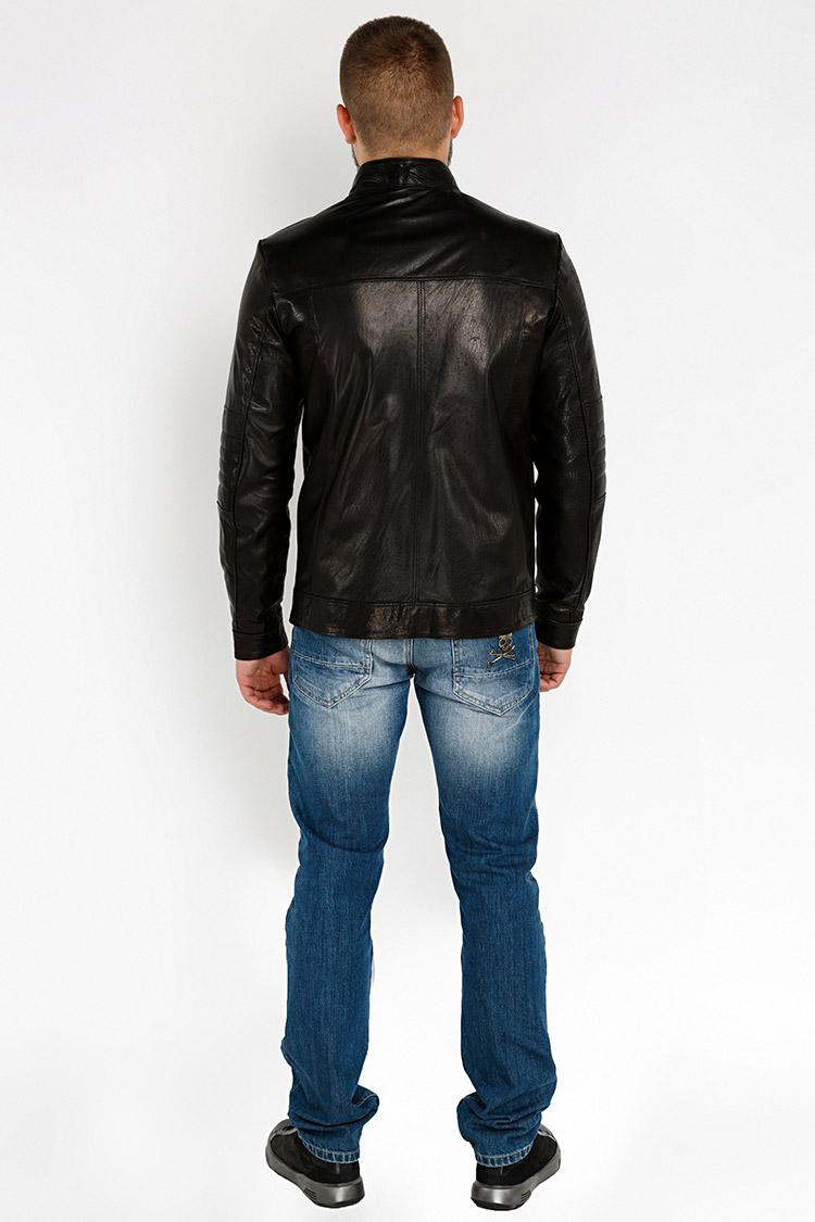 Куртка чоловіча з натуральної шкіри чорна, модель YL-43