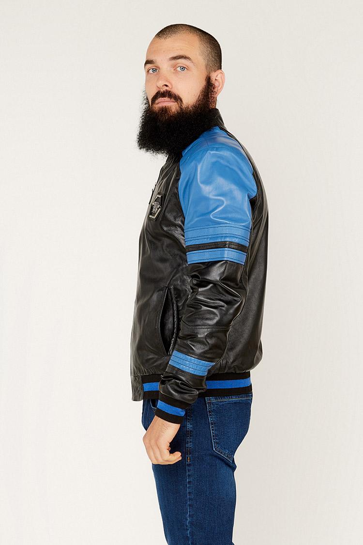Куртка чоловіча з натуральної шкіри різнокольоровый, модель 012