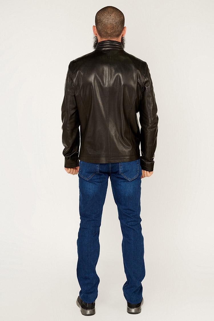 Куртка чоловіча з натуральної шкіри чорна, модель F-570
