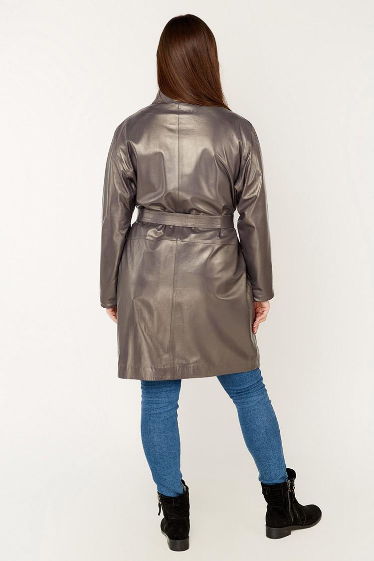 Куртка жiноча з натуральної шкіри фіолетова, модель 7795