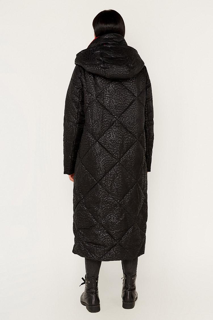 Куртка жiноча з полиэстера чорна, модель T5212/KPS