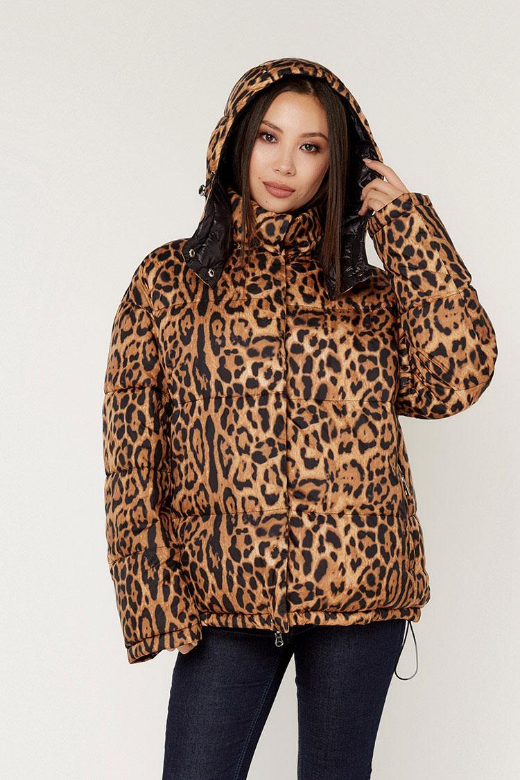 Куртка женская из полиэстера мультиколор, модель T5199/KPS/двухст