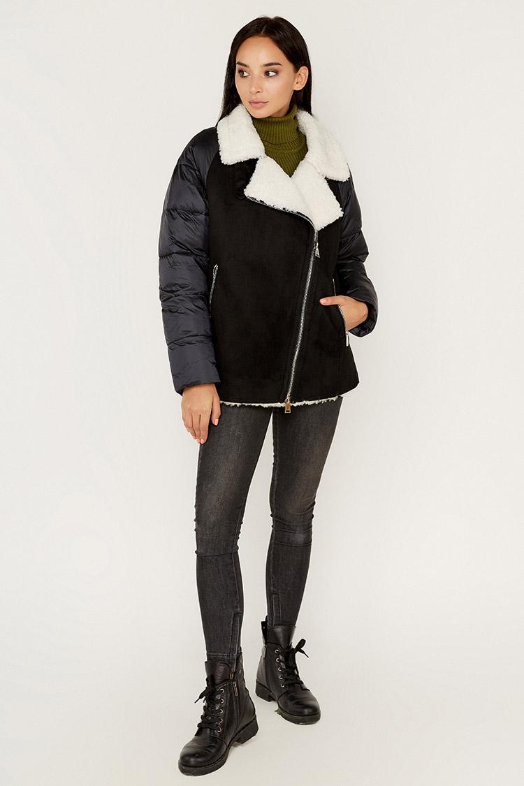 Куртка женская из полиэстера черная, модель M-9257