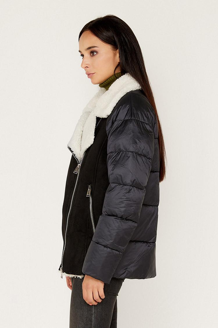 Куртка жiноча з полиэстера чорна, модель M-9257