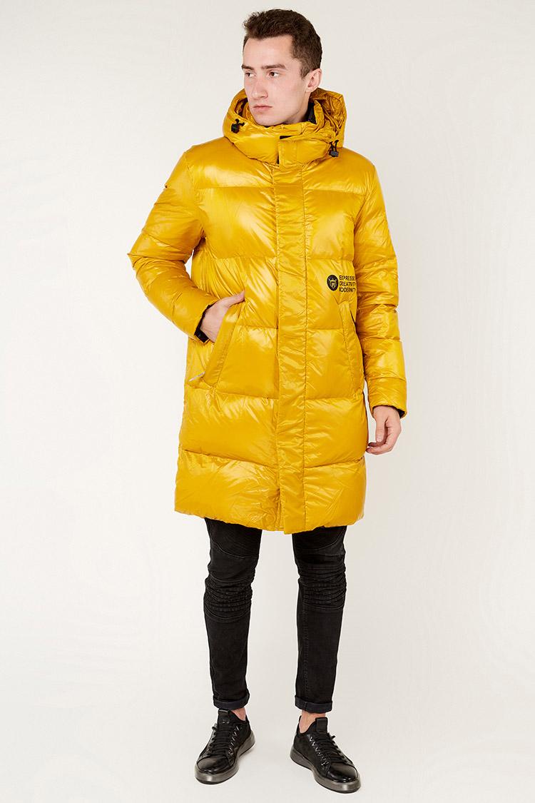 Куртка мужская из полиэстера желтая, модель 69AW594/KPS