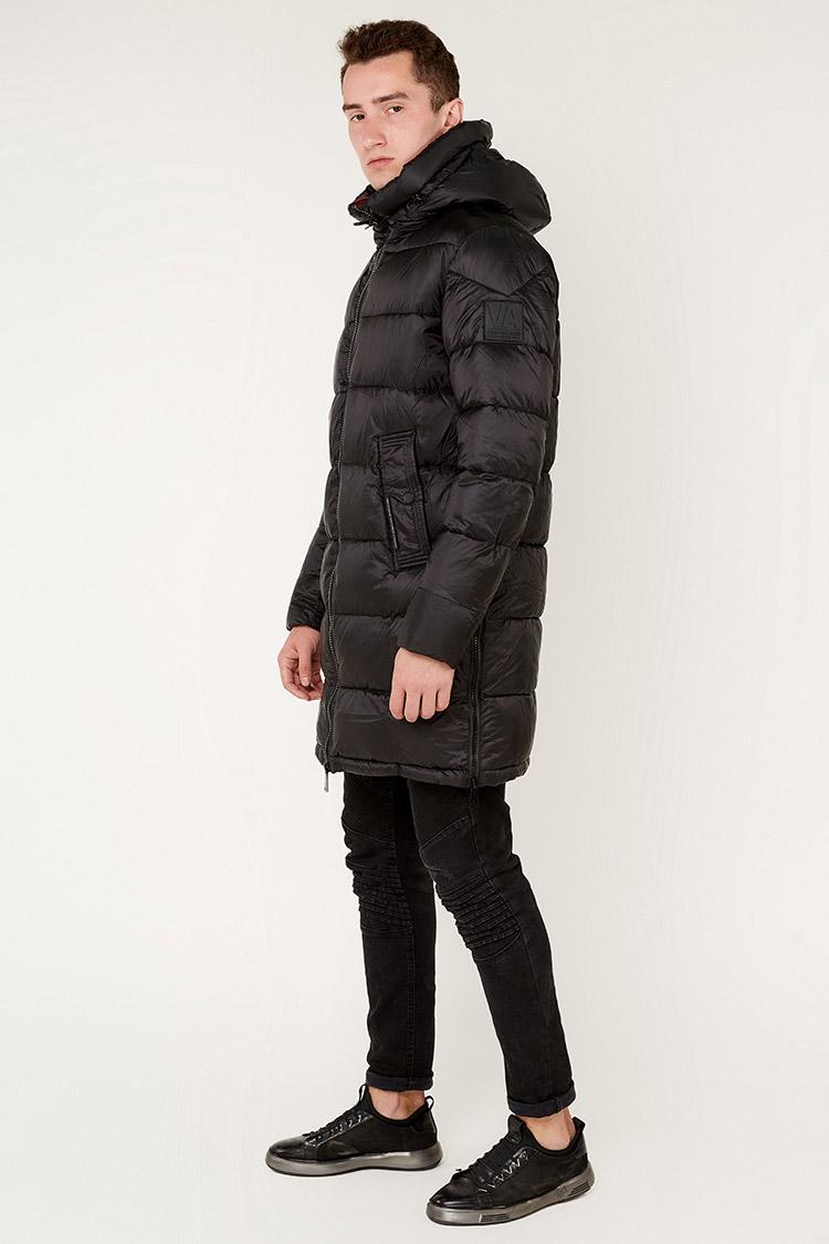 Куртка мужская из полиэстера черная, модель 69AW901M/KPS