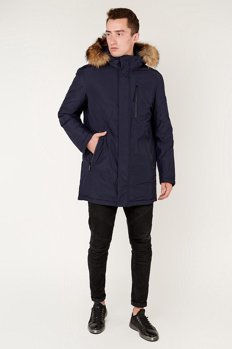 Куртка мужская из полиэстера синяя, модель 69AW884M/KPS