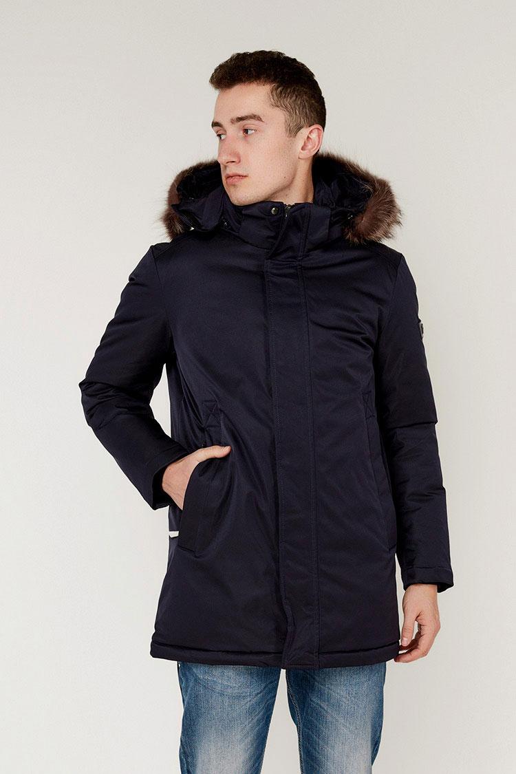 Куртка чоловіча з полиэстера синя, модель 69AW881M/KPS