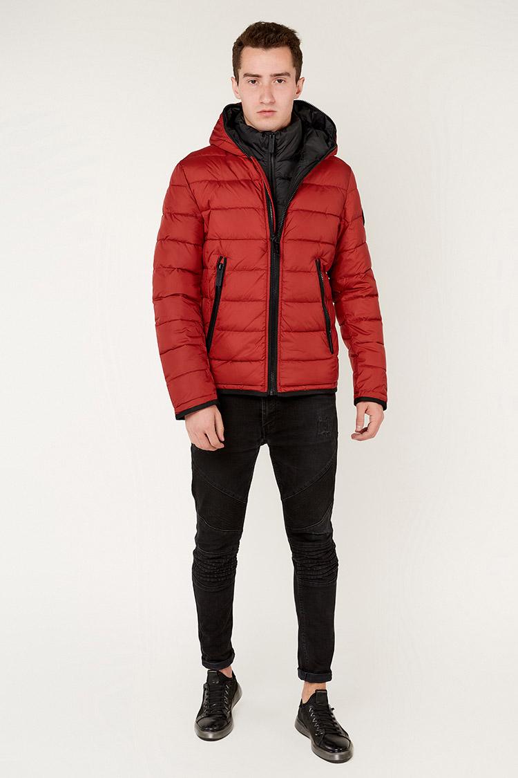 Куртка мужская из полиэстера красная, модель 69AW679M/KPS