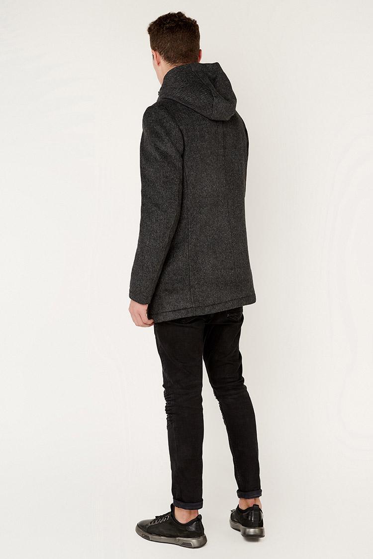 Пальто чоловiче з вовни сiре, модель 69AW889M/KPS