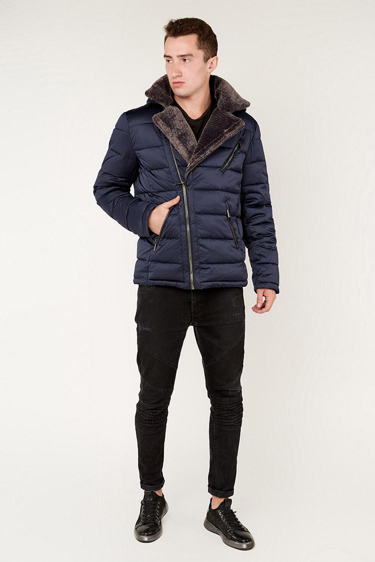 Куртка мужская из полиэстера синяя, модель 69AW888M/KPS