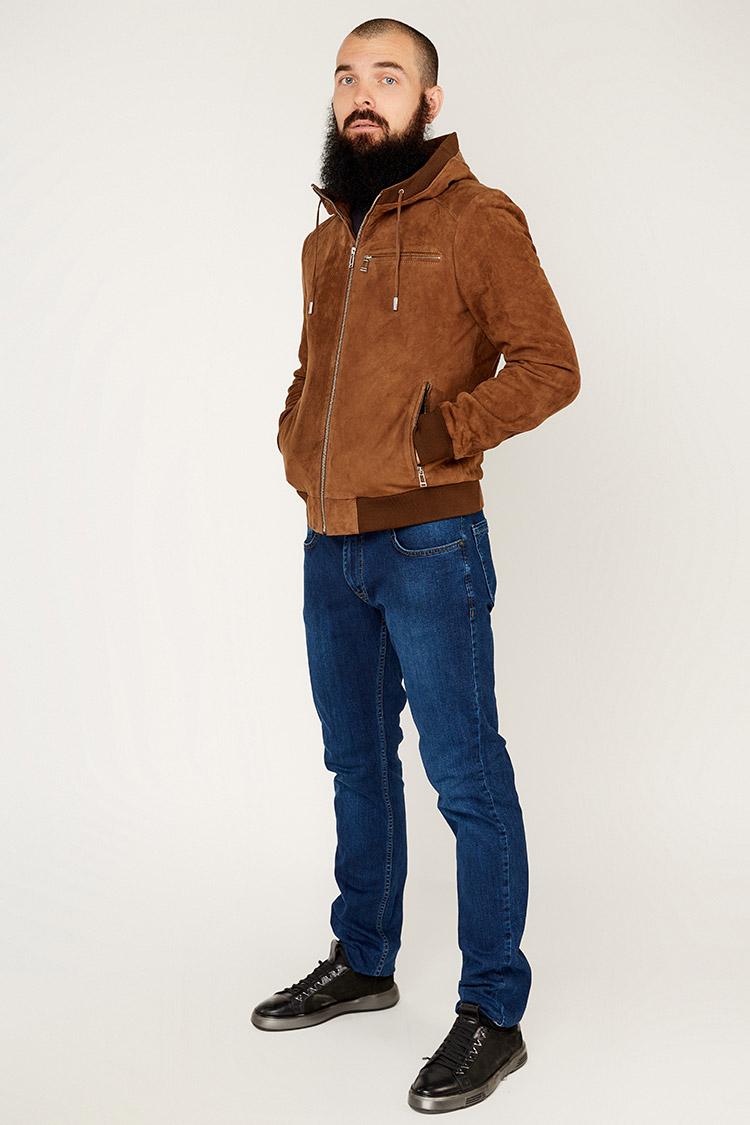 Куртка мужская из замша коричневая, модель L 728/KPS