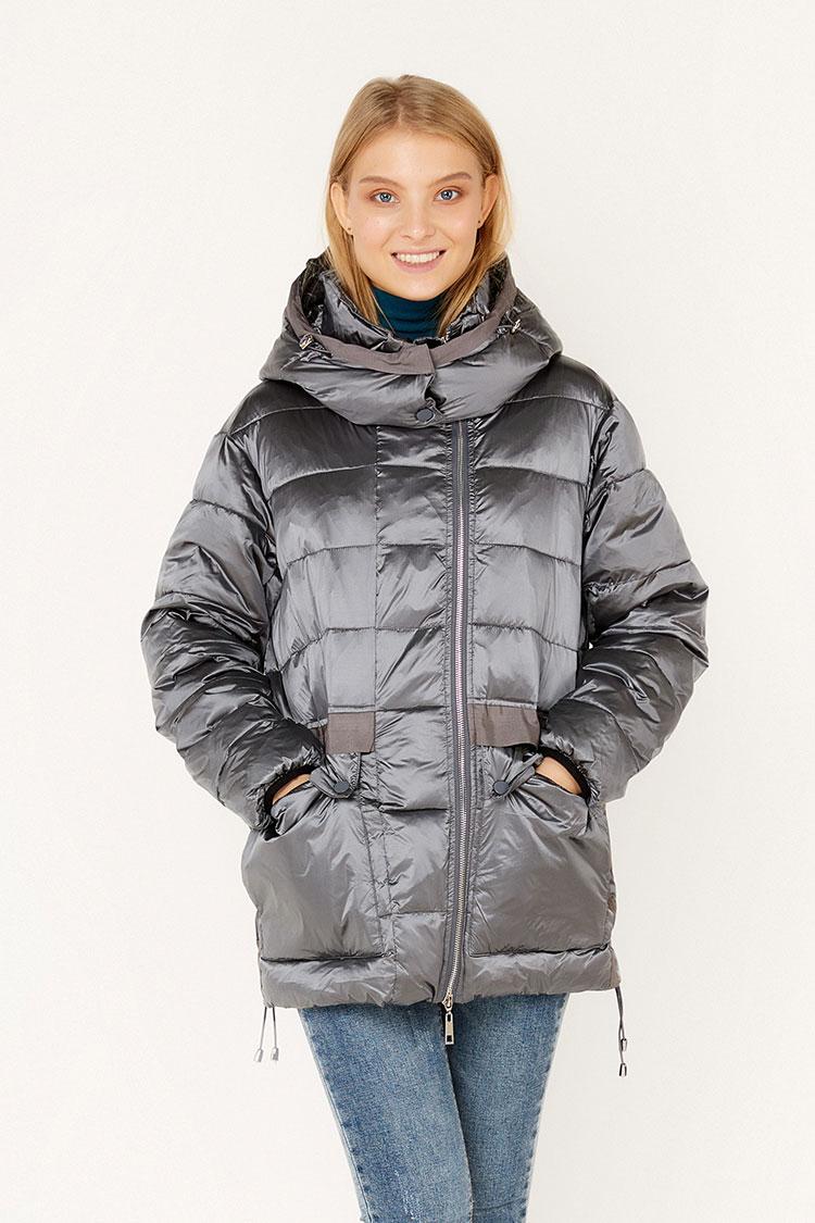 Куртка жiноча з полиэстера сiра, модель T 5241/KPS