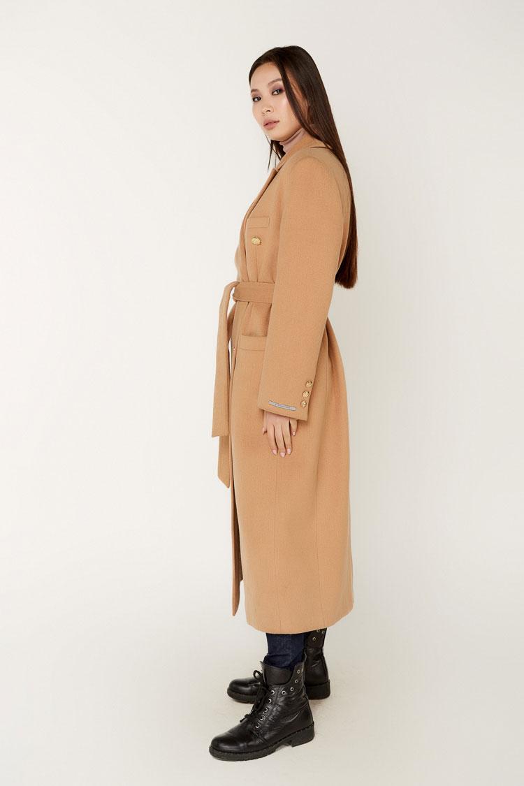 Пальта жіночі з кашеміру бежеве, модель 1514