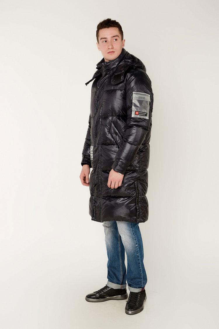 Куртка мужская из полиэстера черная, модель 69AW596/KPS