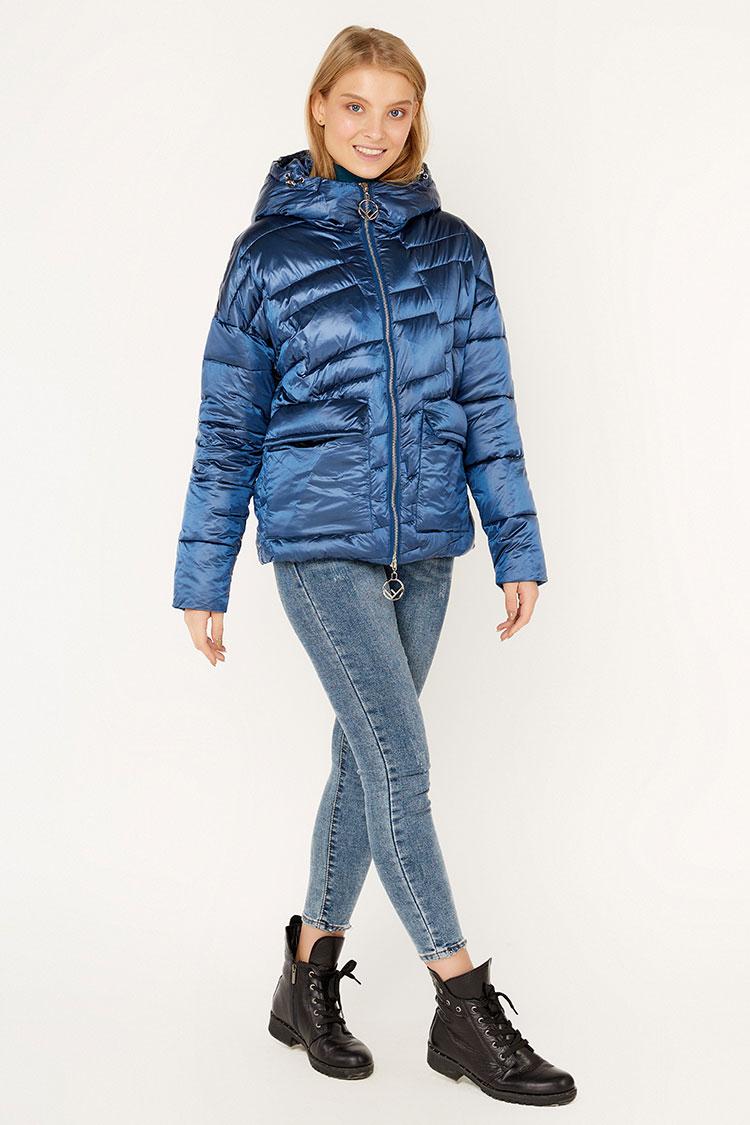 Куртка женская из полиэстера синяя, модель D6045/KPS