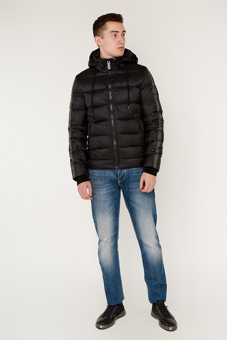 Куртка мужская из полиэстера черная, модель 69AW572M/KPS