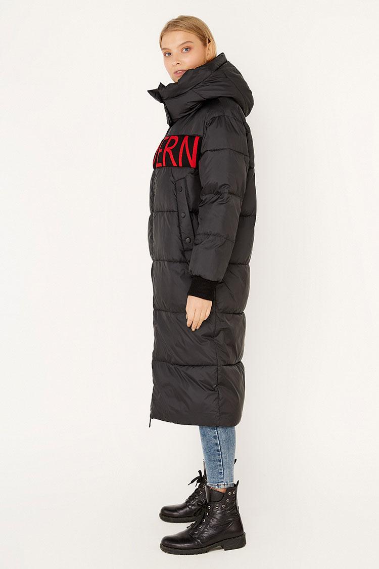 Куртка жiноча з полиэстера чорна, модель EW9265M/KPS