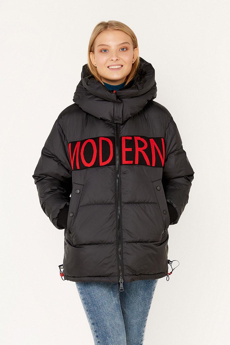 Куртка женская из полиэстера черная, модель EW9264M/KPS