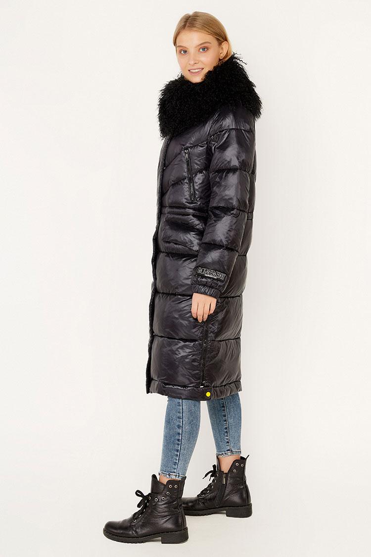 Куртка жiноча з полиэстера чорна, модель EW9226M