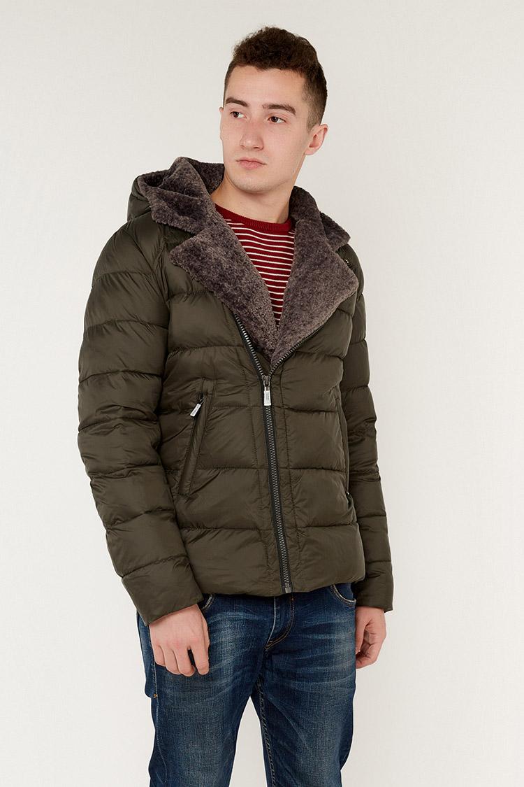 Куртка мужская из полиэстера зеленая, модель 69AW899M/KPS