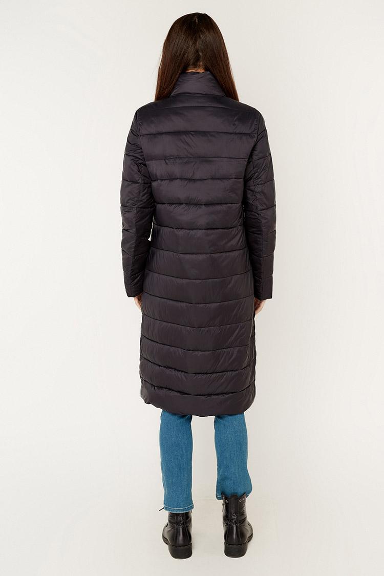 Куртка жiноча з полиэстера чорна, модель T5196/KPS+жилет