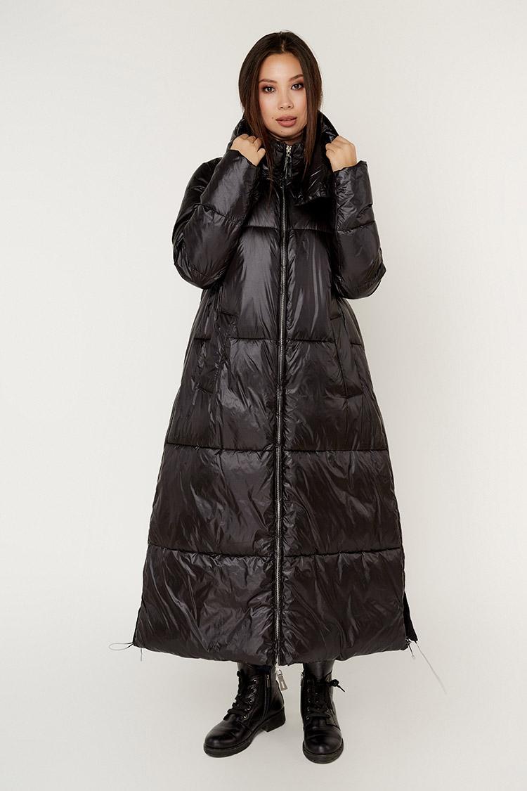 Куртка жiноча з полиэстера чорна, модель M3510/KPS