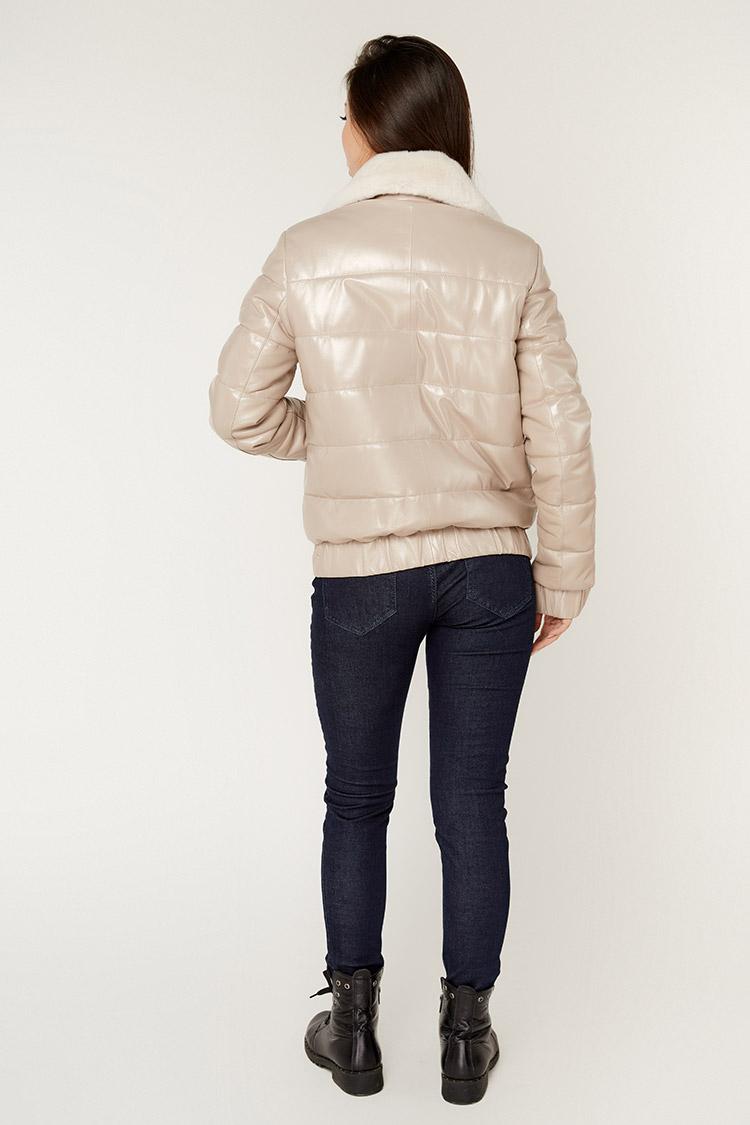 Куртка женская из натуральной кожи мультиколор, модель P-602