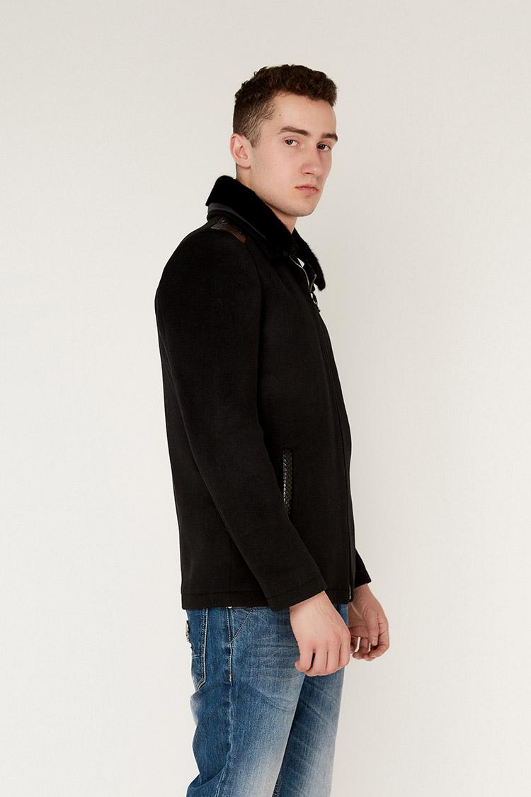 Пальто чоловiче з кашеміру чорне, модель GVN-262