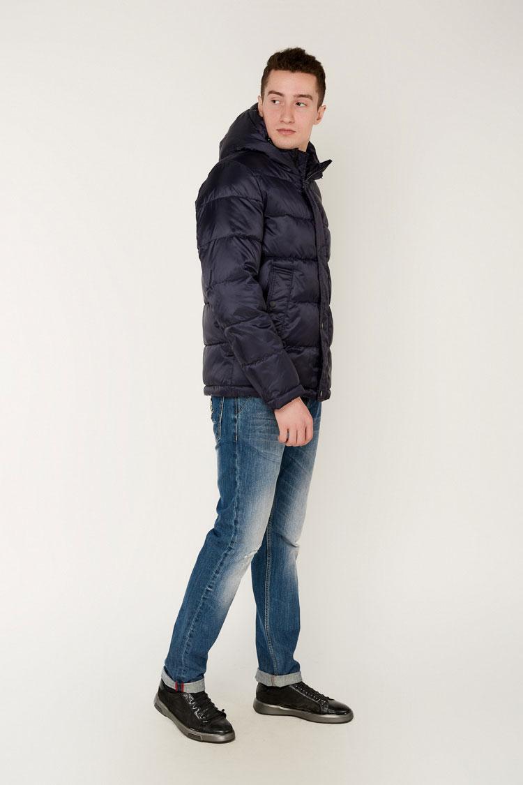 Куртка мужская из полиэстера синяя, модель 69AW920M/KPS