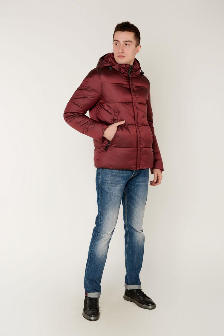 Куртка мужская из полиэстера красная, модель 69AW573M/KPS
