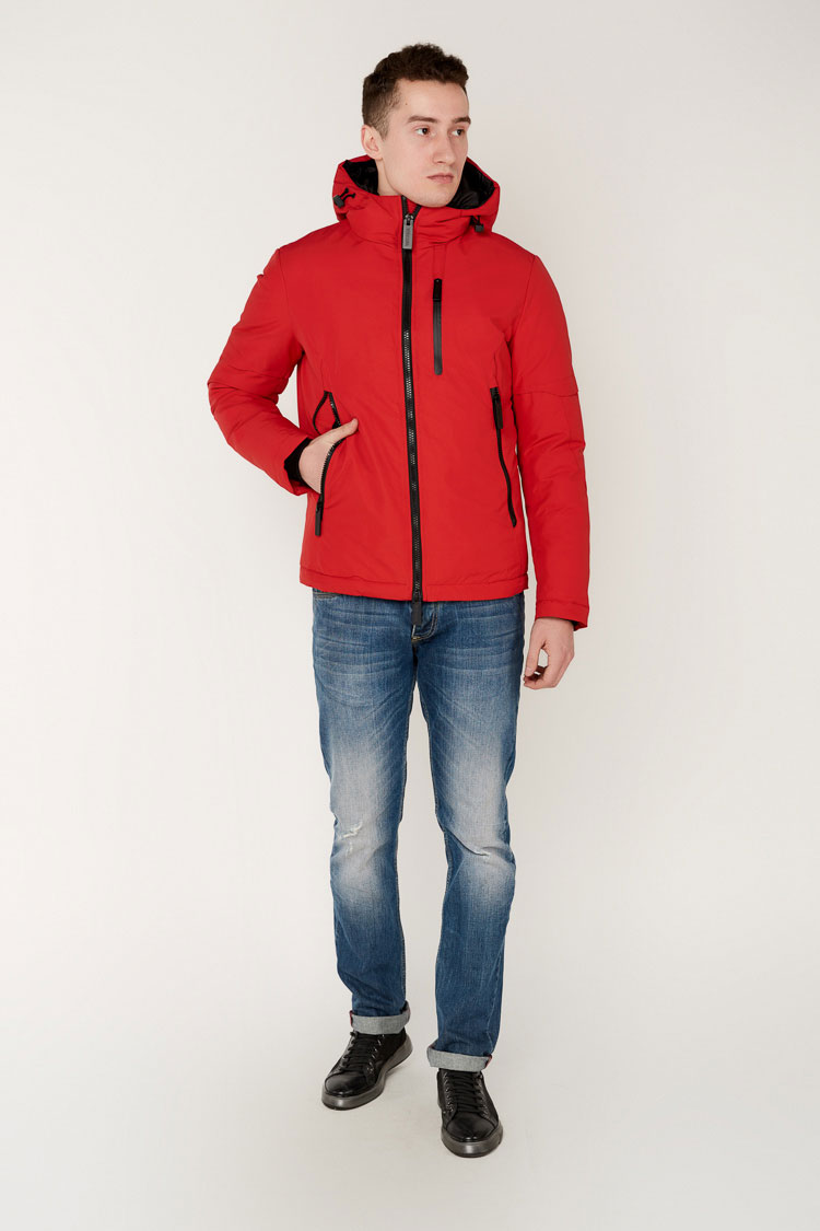 Куртка мужская из коттона красная, модель 69AW698M/KPS