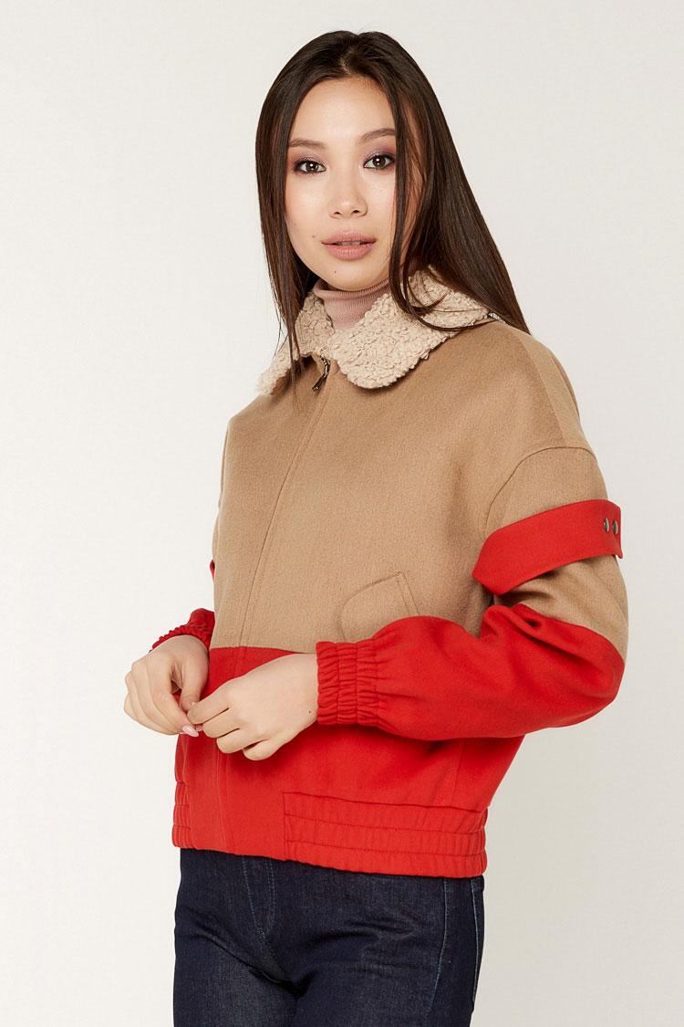 Пальта жіночі з кашеміру різнокольоровый, модель 1548