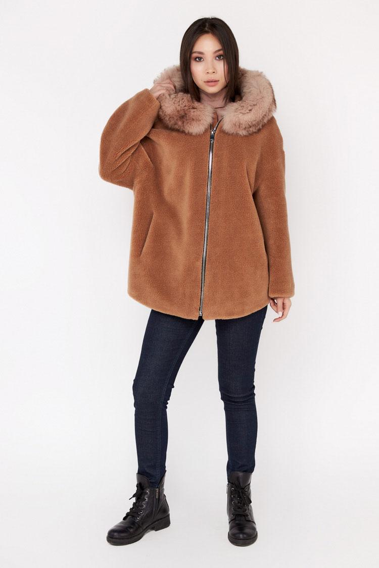 Пальта жіночі з вовни коричневе, модель EM-61/KPS