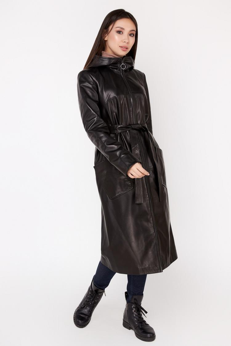 Куртка жiноча з натуральної шкіри чорна, модель C 582/KPS