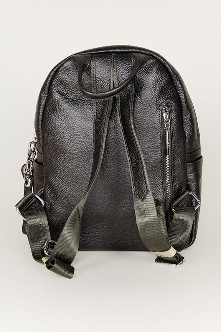 Сумка женская из натуральной кожи серая, модель C 0125/рюкзак