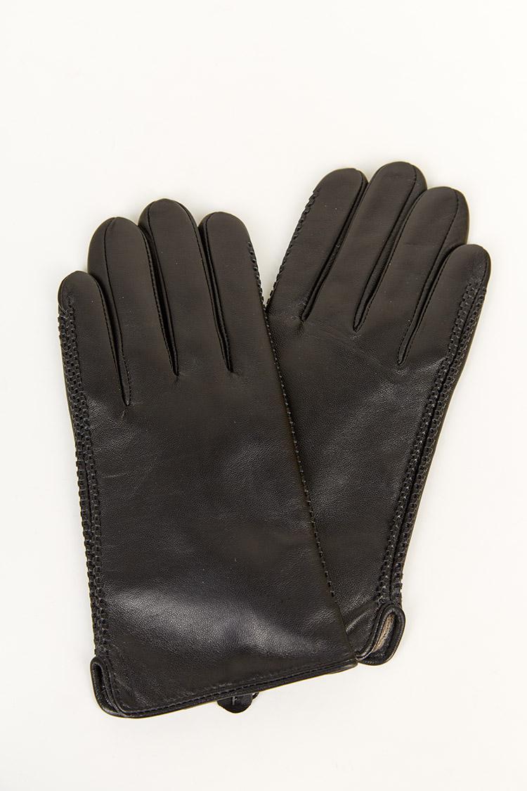 Перчатки мужские из натуральной кожи черные, модель 1921